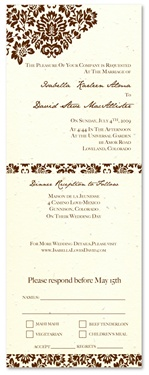 Plantable Wedding Invitations - Dan's Mask (seeded paper)
