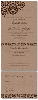 Recycled Wedding Invitations ~ Dan's Mask (Vintage Edition)