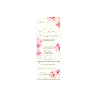 Antique Rose Wedding Invitations