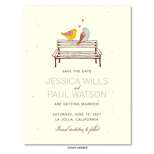 Doves wedding Save the Date cards | Doves in Love  (seeded paper)