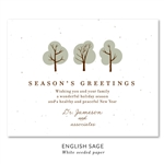 Doctor's Wishes Business Holiday Cards with green and blue trees