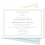 Framed Wedding Invitations | Elegant Frame (plantable paper)
