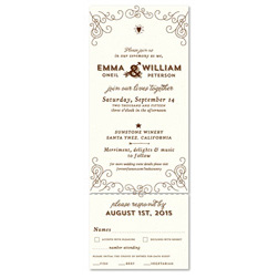 Unique Wedding Invitations ~ Elegant Back Country (100% recycled paper)