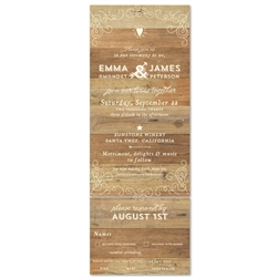 Unique Woodsy Wedding Invitations Elegant Back Country 100 Recycled Paper