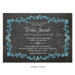 Purple Chalk Bat Mitzvah Invitations | Enchanted Chalk