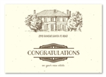 Real Estate New Home Congratulations ~  The Estate by Green Business Print