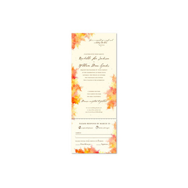Watercolor Wedding Invitations on Plantable Paper ~ Fall Colors