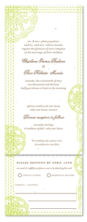 Spanish Wedding Invitations on Seeds Paper ~ Feliz (Destination, grass green)