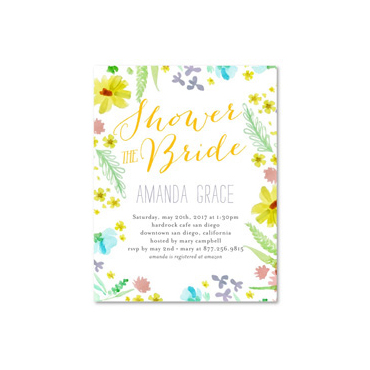 Watercolor Bridal Shower Invitations | Floral Grace