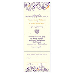 Unique Wedding Invitations - Floral Heart (seeded paper with wildflowers)