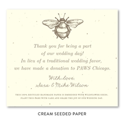 Seeded Paper Wedding Favors ~ French Bee
