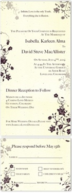 Handmade Wedding Invitations on Seeded paper - Garden's Jewels, burgundy garden weddings