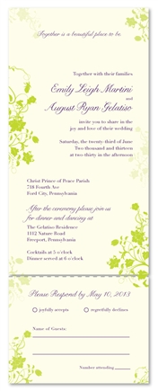 Eco-friendly Wedding Invitations - Garden's Jewels (100% recycled)