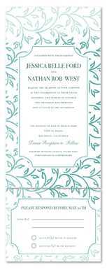 All in One Invitations ~ Garden Vines **plantable (seeded paper with wildflowers)