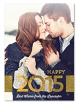 Gold Holiday Cards | Gold New Year (100% recycled paper)