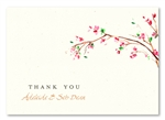 Cherry Blossoms Thank you cards by ForeverFiances Weddings