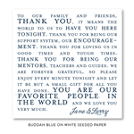 Favorite People Wedding Favor Cards on seeded paper paper