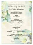 Bloom Wedding Programs | Gorgeous Blooms (100% recycled paper)