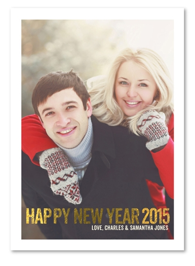 New Year Holiday Cards | Gorgeous New Year (100% recycled paper)
