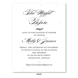 Elegant Rehearsal Dinner invitations | Graceful Chic