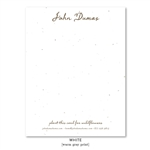 Unique Business Stationery on seeded paper - Handwritten