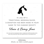 Pet Wedding Favors for Donation | Humane Society