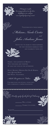 Recycled Wedding Invitations | Inspired Lotus (100% recycled paper)