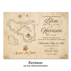 Tropical Destination Wedding Invitations | Island Winds