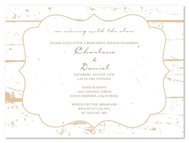 Shabby Chic Rehearsal Dinner Invitations ~ La Grange