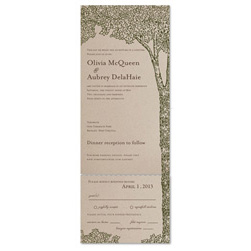 Brown Paper Tree Wedding Invitations | La Foret