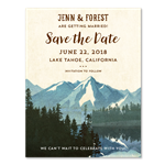 Lake Tahoe Wedding Save the Date Cards | California Nevada Sierra