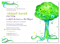 Watercolor Bat Mitzvah Invitations | Living Tree