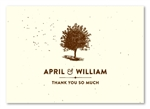 living tree Thank You Cards on brown paper | Living Tree