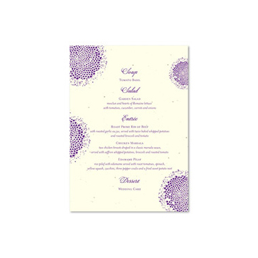 Unique Wedding Menus ~ Lolita (seeded paper)