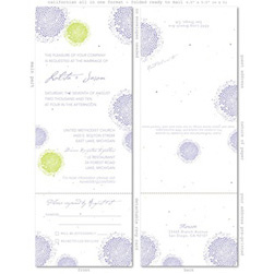 Lavender Wedding Cards ~ Lolita (plantable paper)
