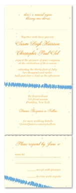 Plantable Wedding Invitations - Love Birds (embedded with wildflowers)