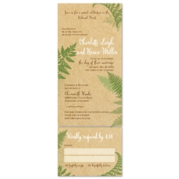 Green Wedding Invitations ~ Lovely Fern (100% recycled paper)