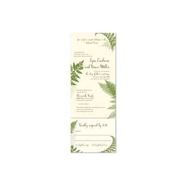 Green Fern Wedding Invitations | Lovely Fern