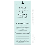 Nautical Wedding Invitations | Marine Blue