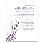 Tree Theme Funeral Cards ~ Memorial Branches (seeded paper)