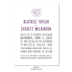 Seeded paper Wedding Invitations | Modern Heart