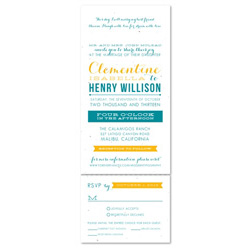 Send n Sealed Invitations ~ Modern Typography (100% recycled seeded paper)