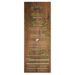 Wood Wedding Invitations | Mountain Lodge (100% recycled paper)