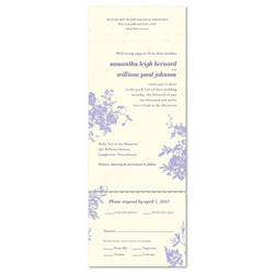 Seal and Send Wedding Invitations | My Love Rosie (100% recycled, Purple flowers)
