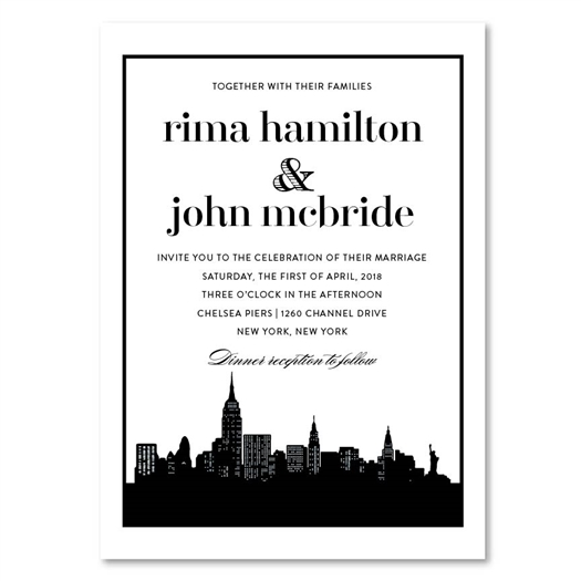New York skyline Wedding Invitations Wedding Invitations
