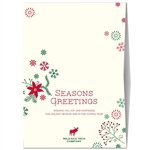 Company Greeting Cards | Natural Poinsettia