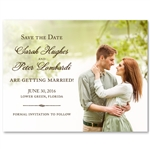 Photo Save the Date | Natural Settings (100% recycled paper)