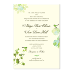 Green Wedding Invitations on Recycled Paper - Nature's Glory / Floral & Whimsical