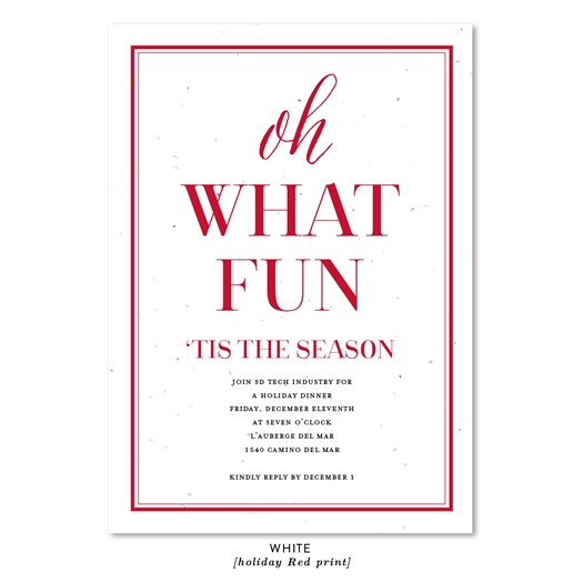 Unique Holiday Invitations | Oh What Fun