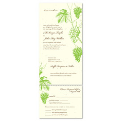 Send n Sealed Wedding Invitations ~ Old Vine (Seeded paper)
